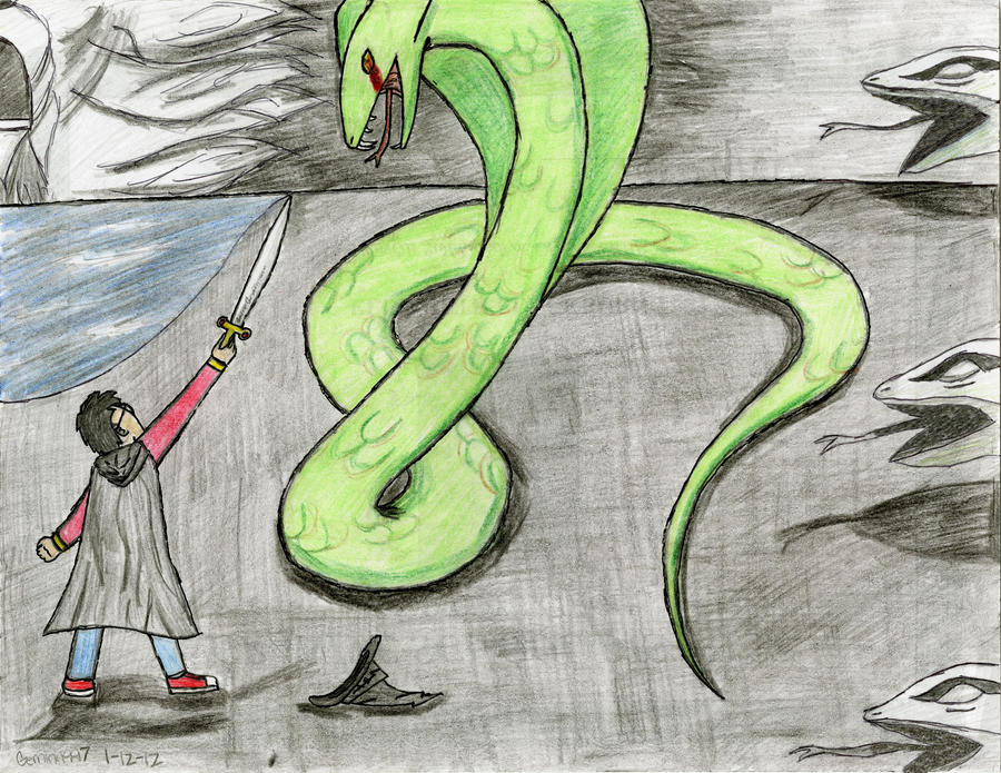 Harry and the Basilisk by Gemini1997 on DeviantArt