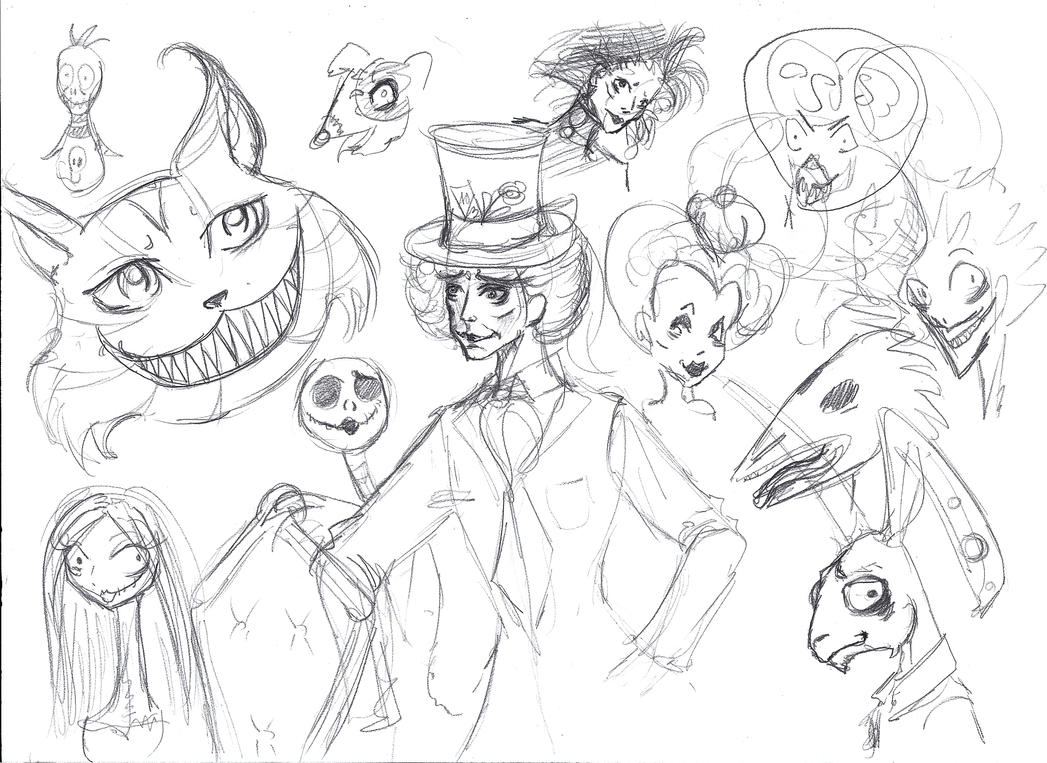 Tim burton characters by Manghorse