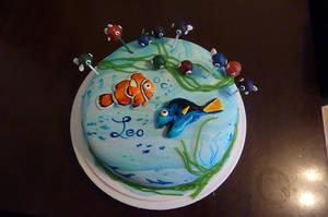 a cake for leo