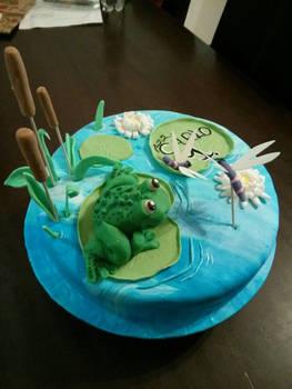 frog chocolate cake