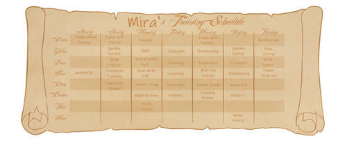Mira's Training Schedule