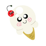 Vanilla Ice Cream Cone Button by DayGlowStudio