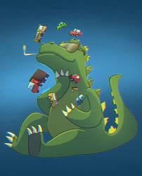 Thug Life Godzilla by Laasuzi
