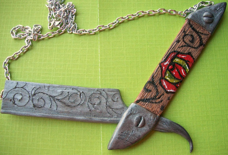 Straight razor tattoo necklace by katgore on deviantart for Straight razor tattoo designs