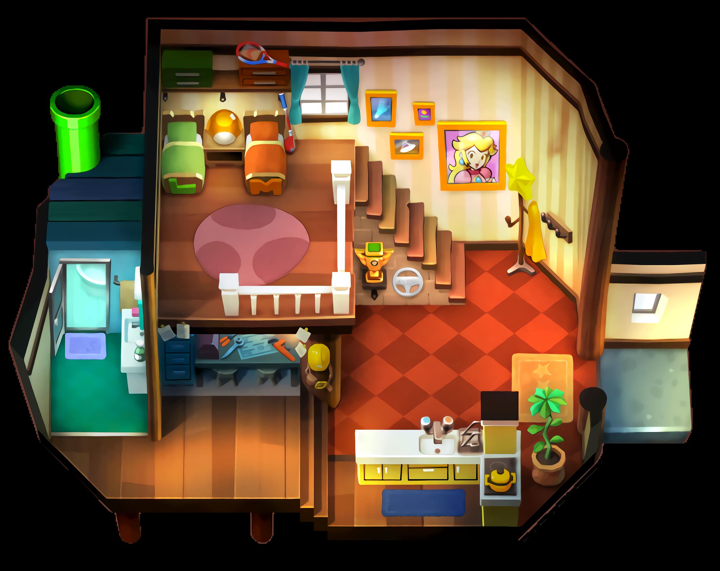 Mario's House Interior HD by Mathim-Draw on DeviantArt