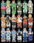 Outfit Adoptables 103 Starter Pokemon edition