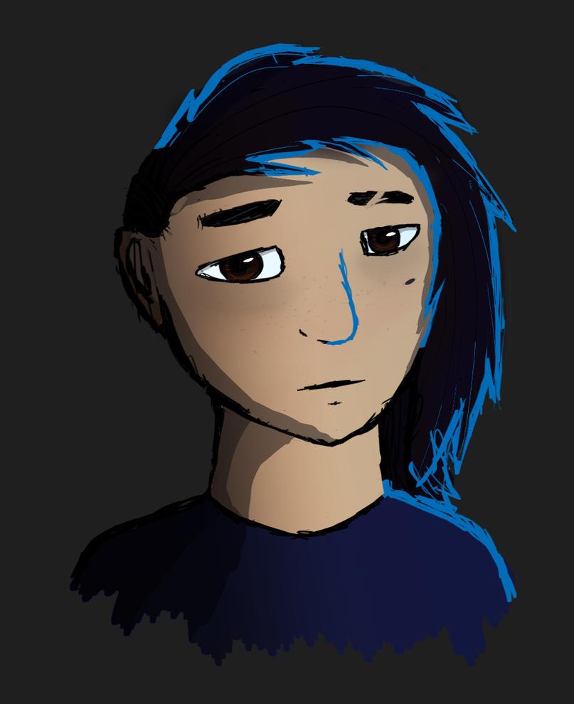 ew look i tried to draw myself by SnowOwO