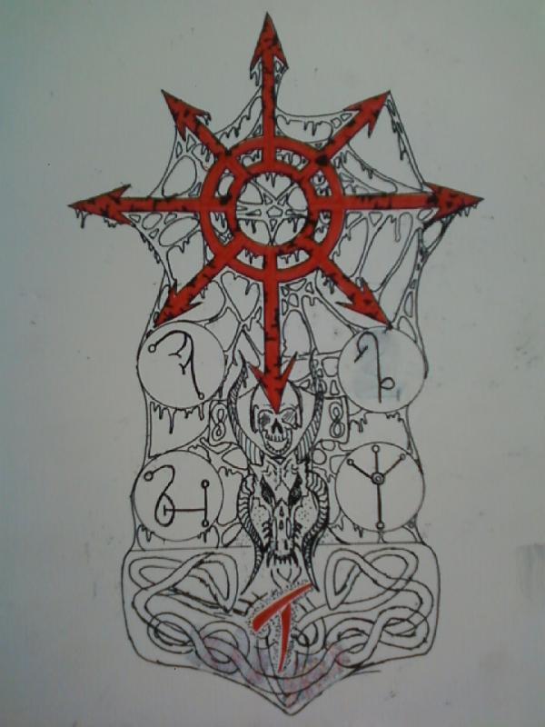 chaos warrior tattoo by lycanwrath on deviantart. Black Bedroom Furniture Sets. Home Design Ideas