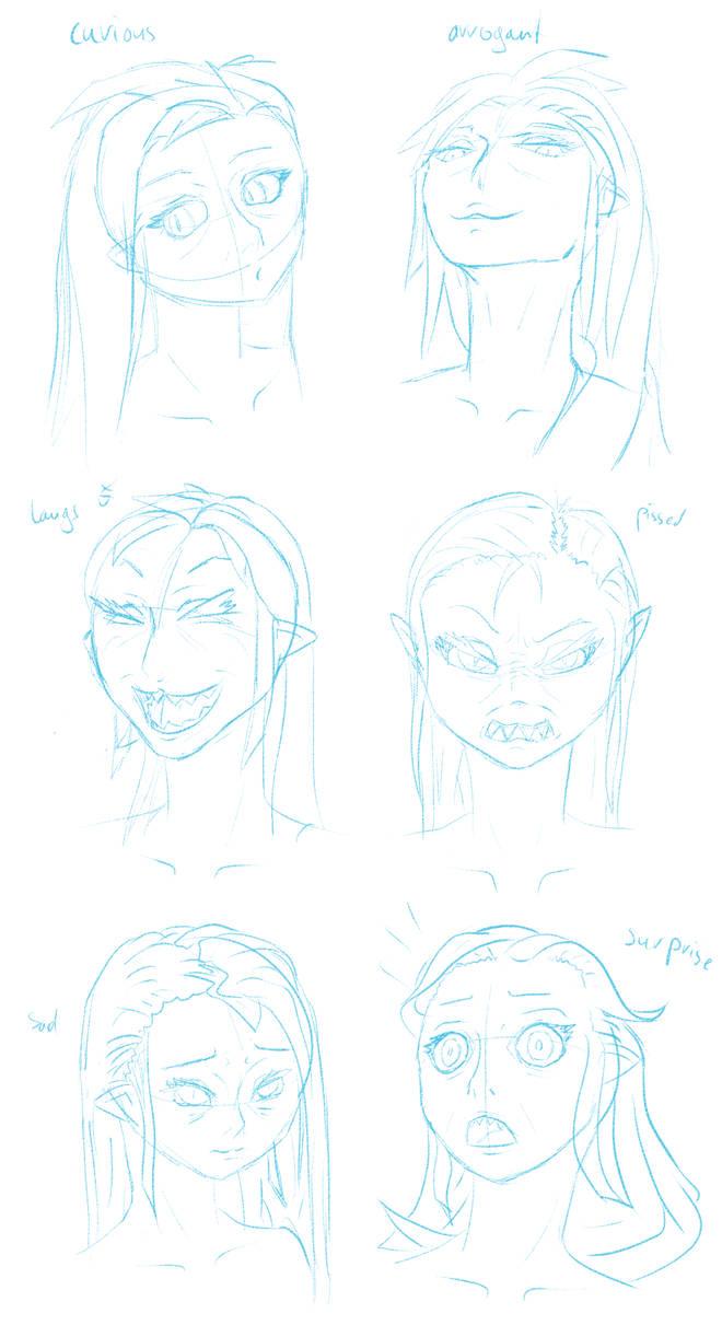 Razicon emotion sketches