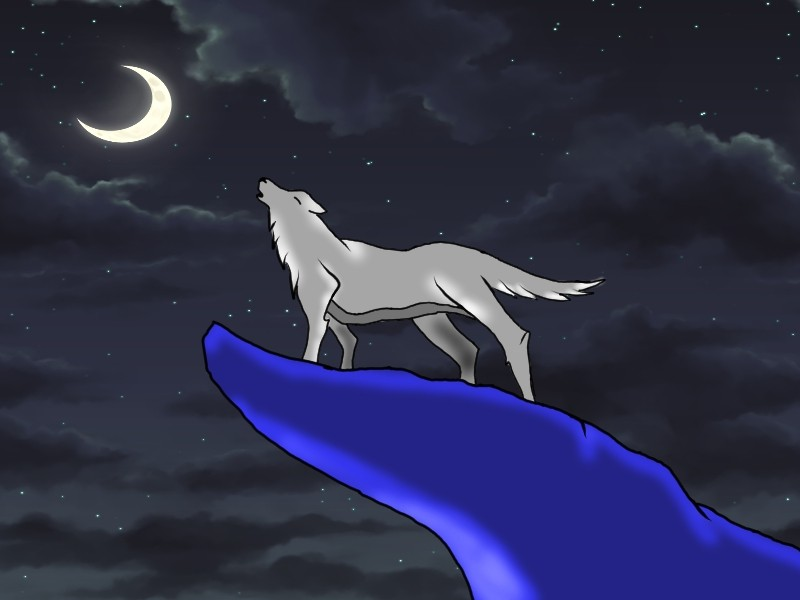 Anime Wolf Howling At The Moon Wallpaper