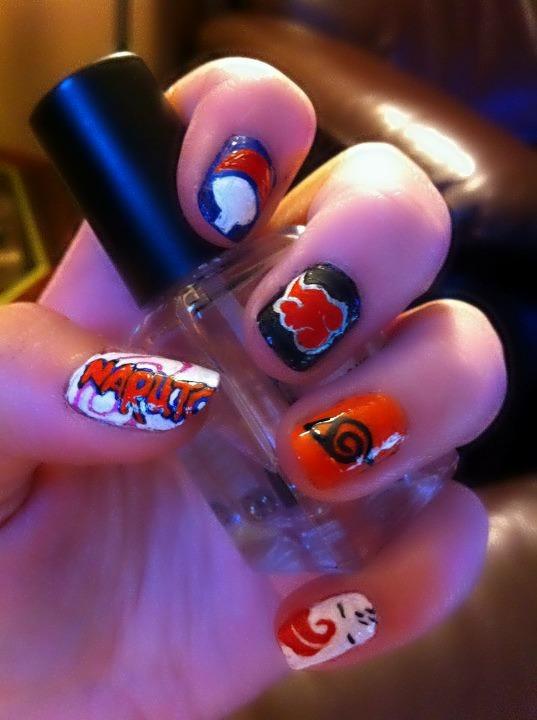 Naruto nail art by HummingbirdHeartbeat on DeviantArt