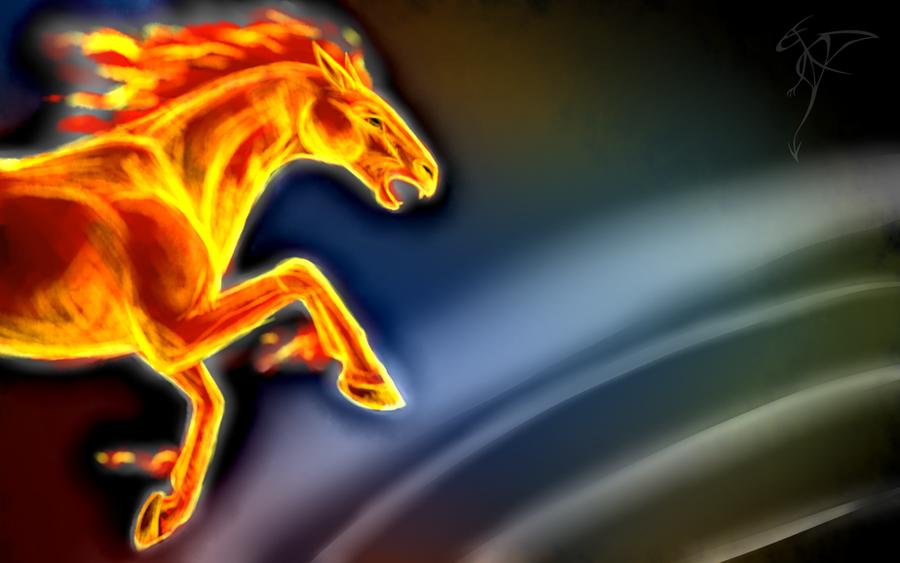 Fire Horse Wallpaper By FanDragonBall