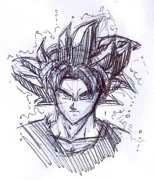 Goku UI sketch by FanDragonBall