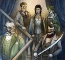 Steampunk adventurers