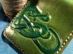 Celtic Knotwork Wallet, Green, Viking, Norse