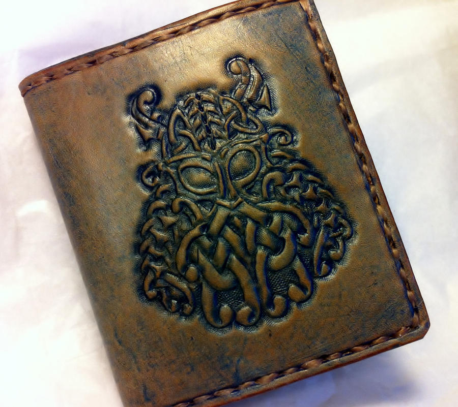 Viking Warrior Wallet-completed by WorldofLeathercraft