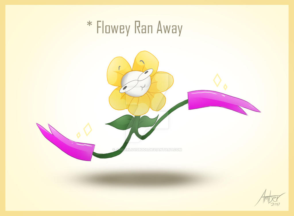 Flowey ran away by Amberluvsbugs