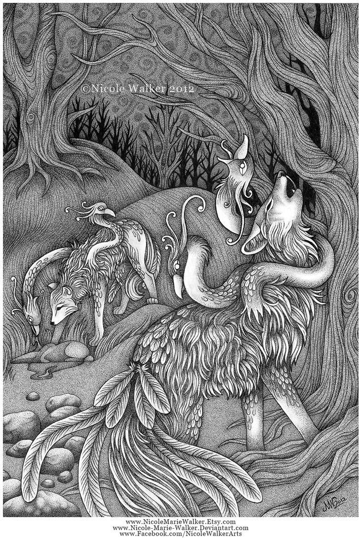 Wolf Hybrid by Nicole-Marie-Walker
