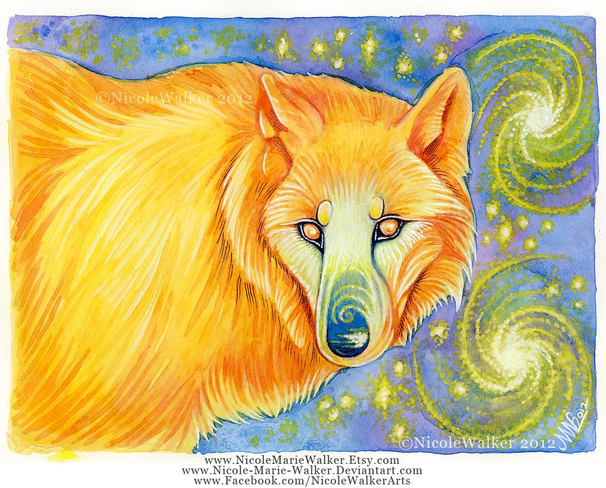 Celestial Wolf by Nicole-Marie-Walker