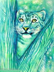 Snow Leopard by Nicole-Marie-Walker