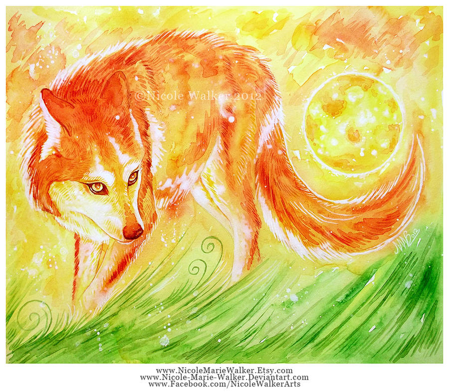 Scarlet She-Wolf by Nicole-Marie-Walker