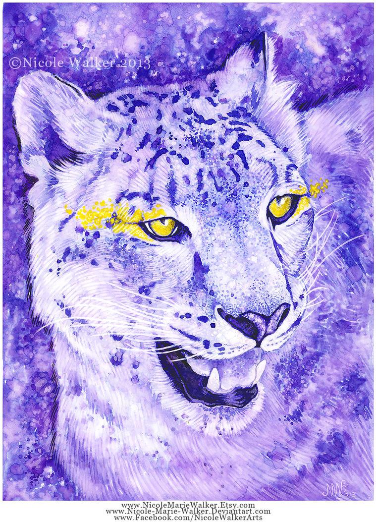Snow Leopard Spots by Nicole-Marie-Walker