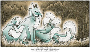 Ghostly Kitsune by Nicole-Marie-Walker