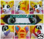 Skribbles-fursuit head
