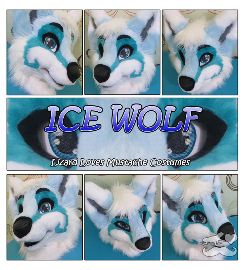 Ice Wolf- Fursuit Head by TheGreenCoyote