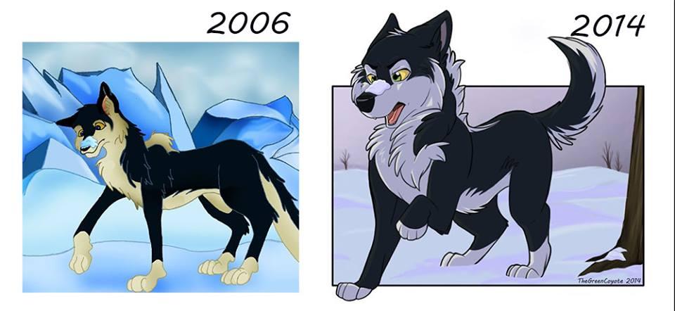 Wolf/Husky Redraw 2006/2014 by TheGreenCoyote