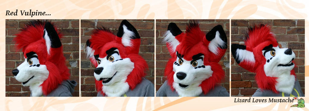 Red Vulpine [fursuit head] by TheGreenCoyote