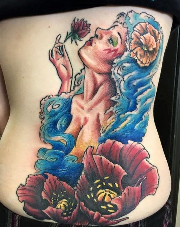 Mary *Stormer* Phillips Tattoo (finished) by TheGreenCoyote