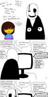 (UT Theory) Gaster's Face by HappyMahogany