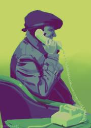 phone call by Halvochin