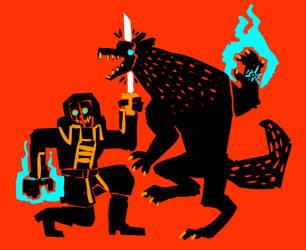 the wolf by Halvochin