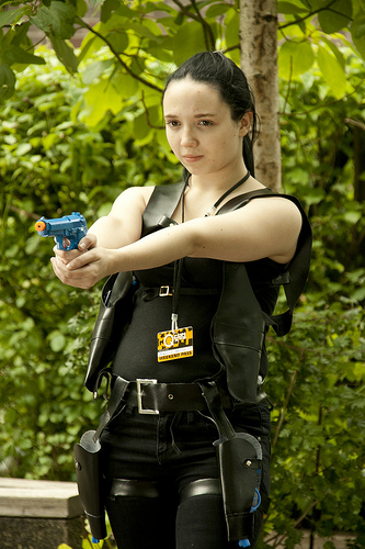 Me cosplaying as clone Alice in resident evil 5 by mephilesxdarkness