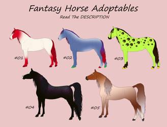 Fantasy Horse Point Adoptables - Great Price by Juzoka-Vargulf-Eqqus