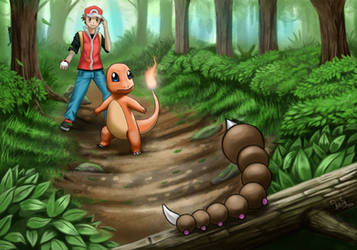 Pokemon red : Viridian Forest by mucuss33