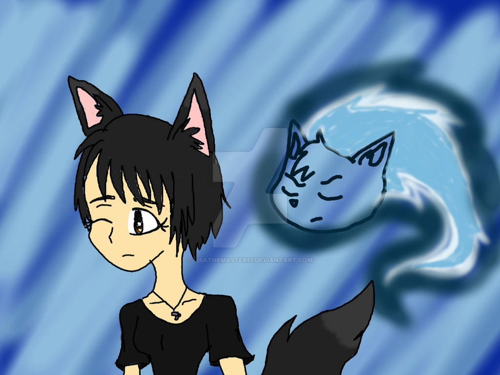 Me and my sprite Wolf by LisaTheMaster17