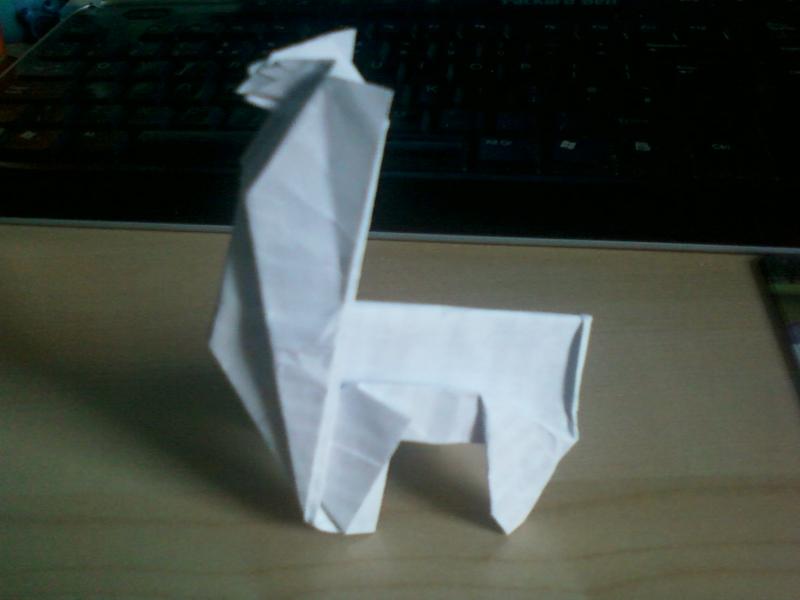 Origami Llama By Rikku300 On Deviantart