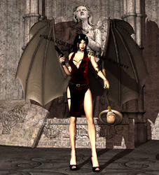 Dark Lara - Alternate Render by rikku300