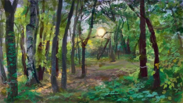 Forest Environment Concept by krupen