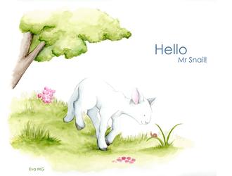 Hello Mr snail by billchan