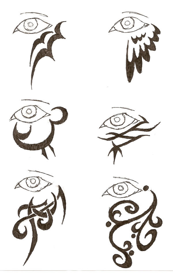Eye tattoos 2 by icemo on deviantart for Tribal tattoo shops near me