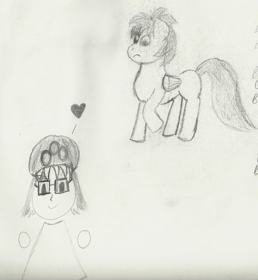 A pony, a baby, and Mii by LauraRola