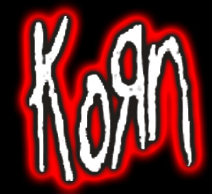 Korn logo with neon