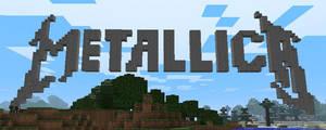 Metallica logo in minecraft