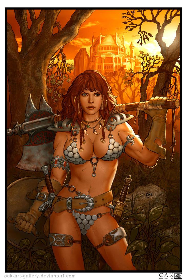 Red Sonja by OAK-Art-Gallery