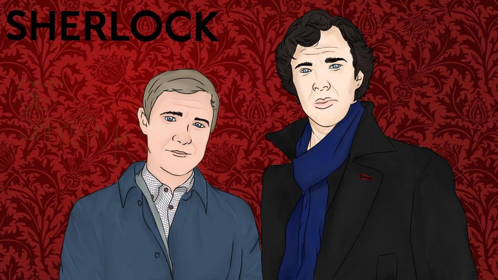 Sherlock And Watson by j0jimi11er