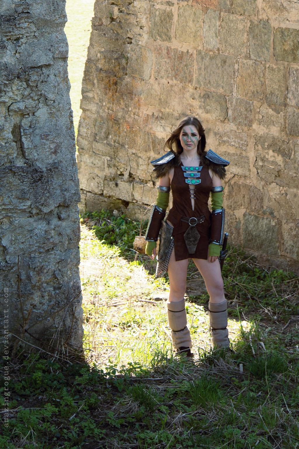 Skyrim, Aela the Huntress by AmazingRogue on DeviantArt